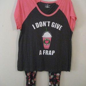 NWOT Starbucks type coffee pajamas plus size 1X